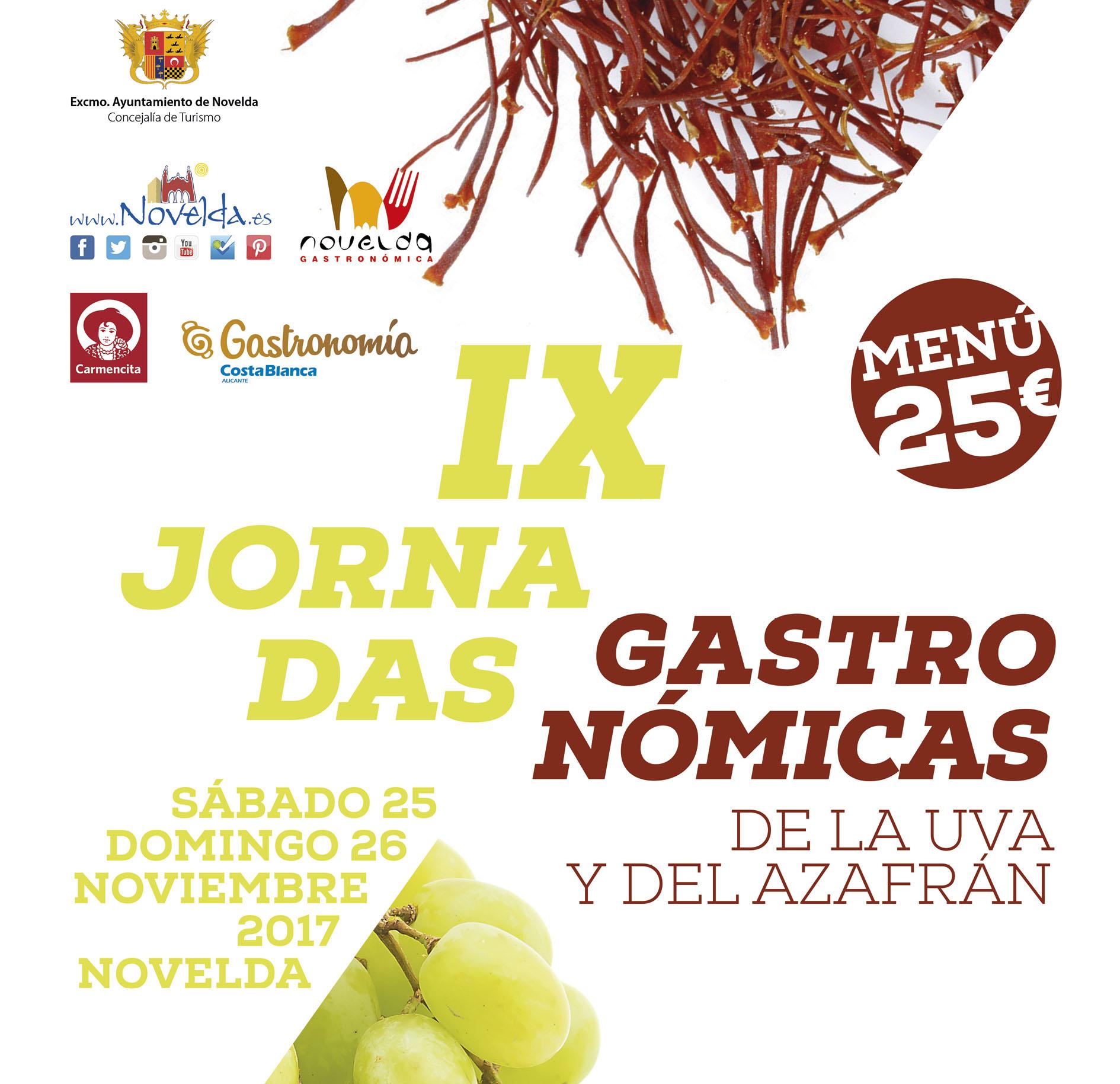 IX Jornadas gastronómicas de la uva y el azafran Novelda 2017