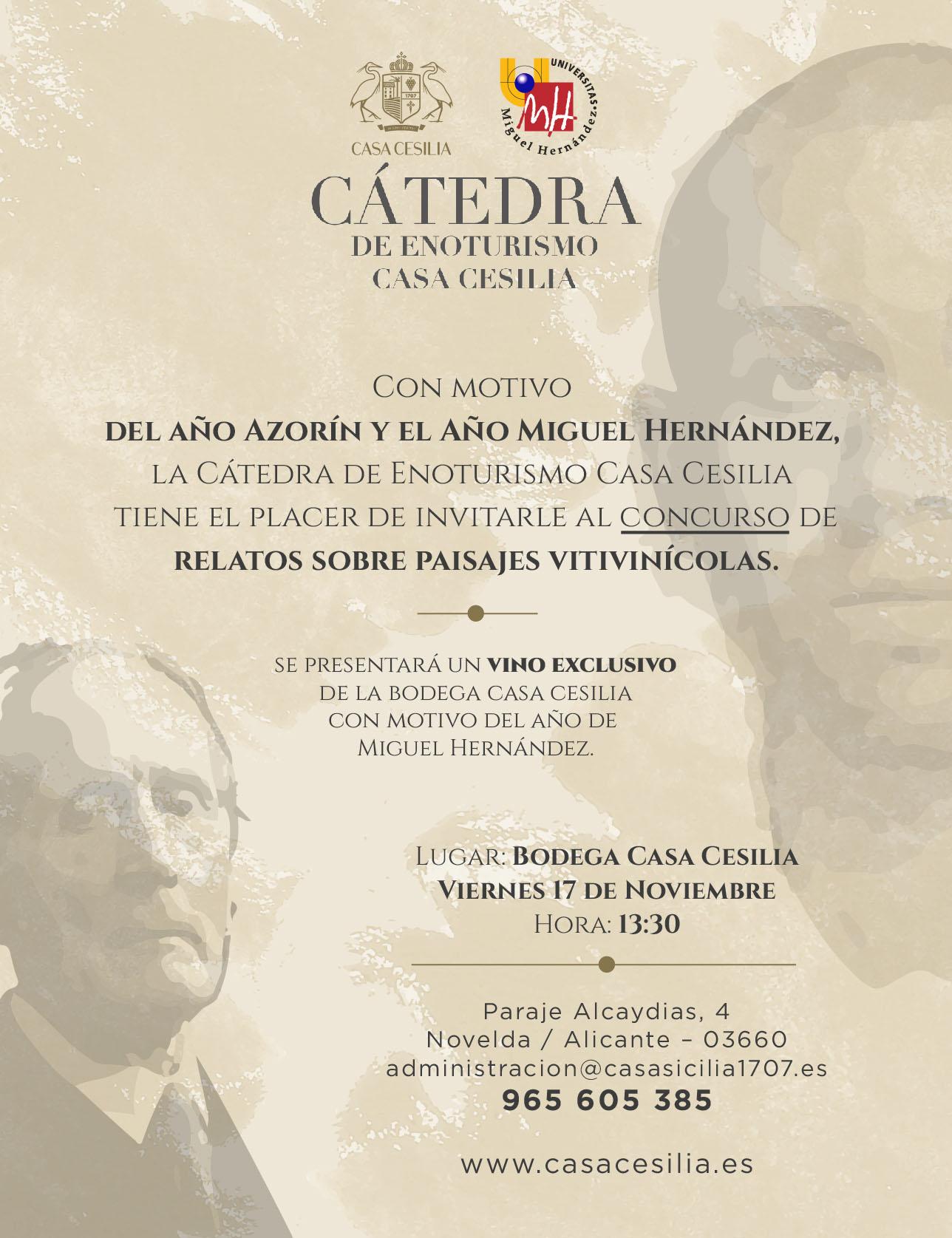Miguel Hernandez Catedra Enoturismo Casa Cesilia UMH