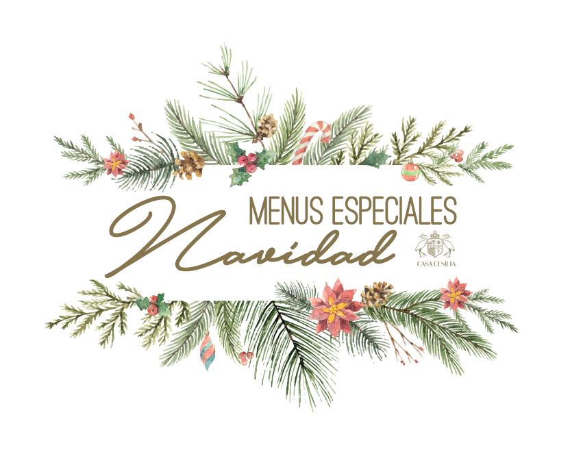 Menus especiales de Navidad en Casa Cesilia