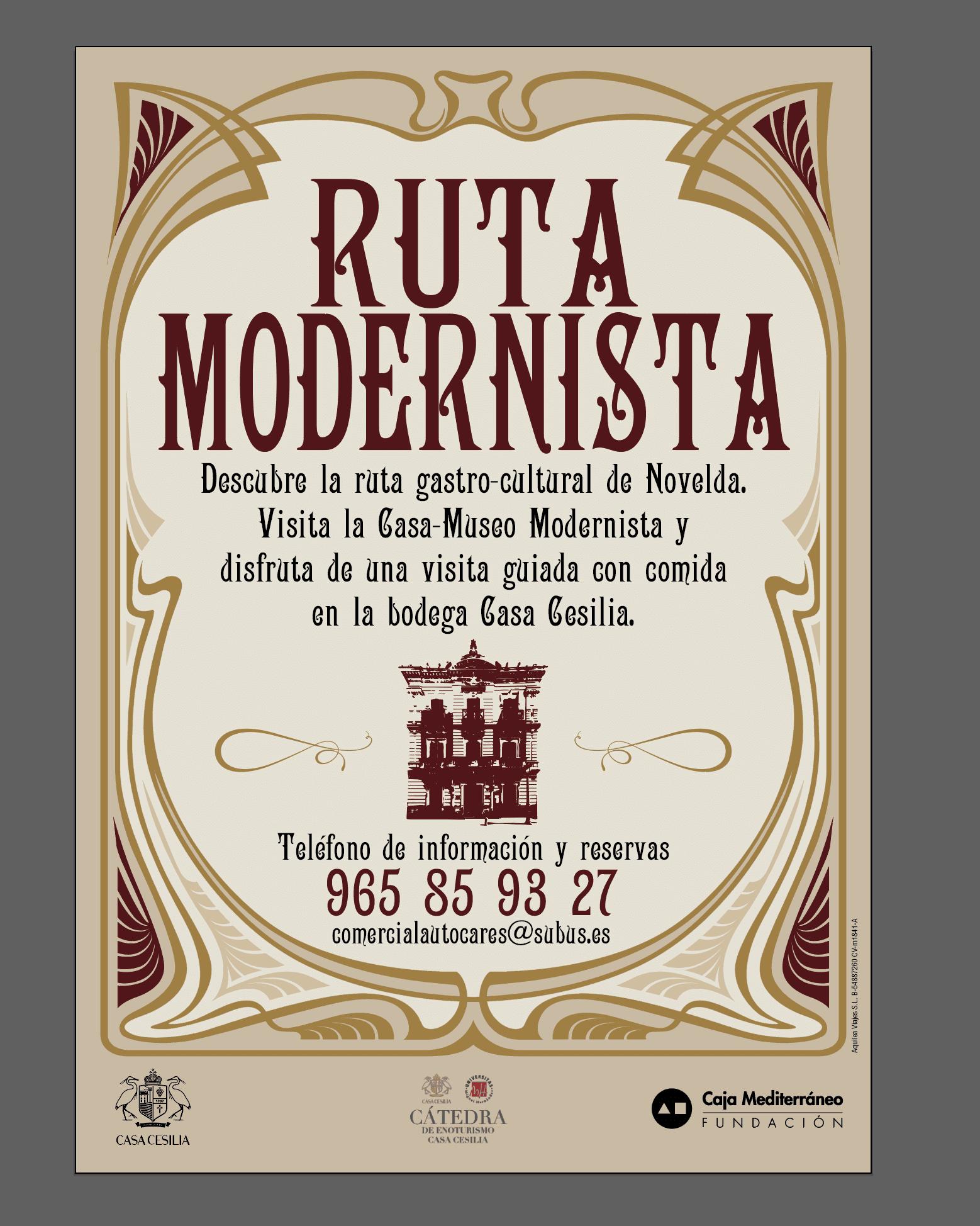 Vectalia y fundaci n cam lanzan la ruta modernista de novelda - Contactos novelda ...