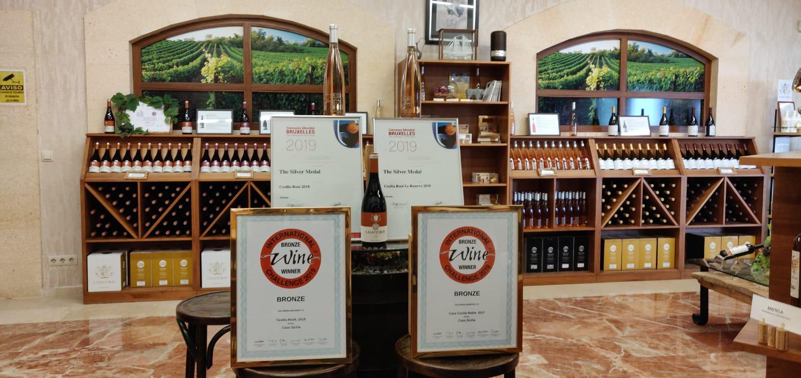 Vinos Casa Sicilia premios internacionales