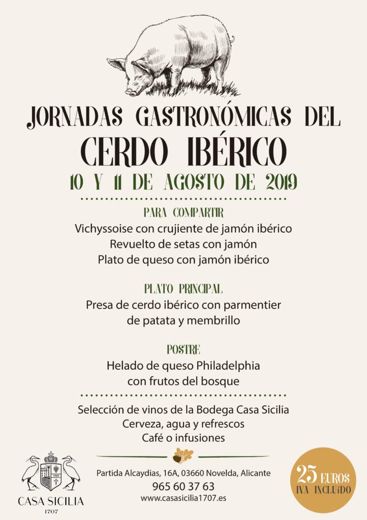 Jornadas Gastronómicas del Cerdo Ibérico en Casa Sicilia